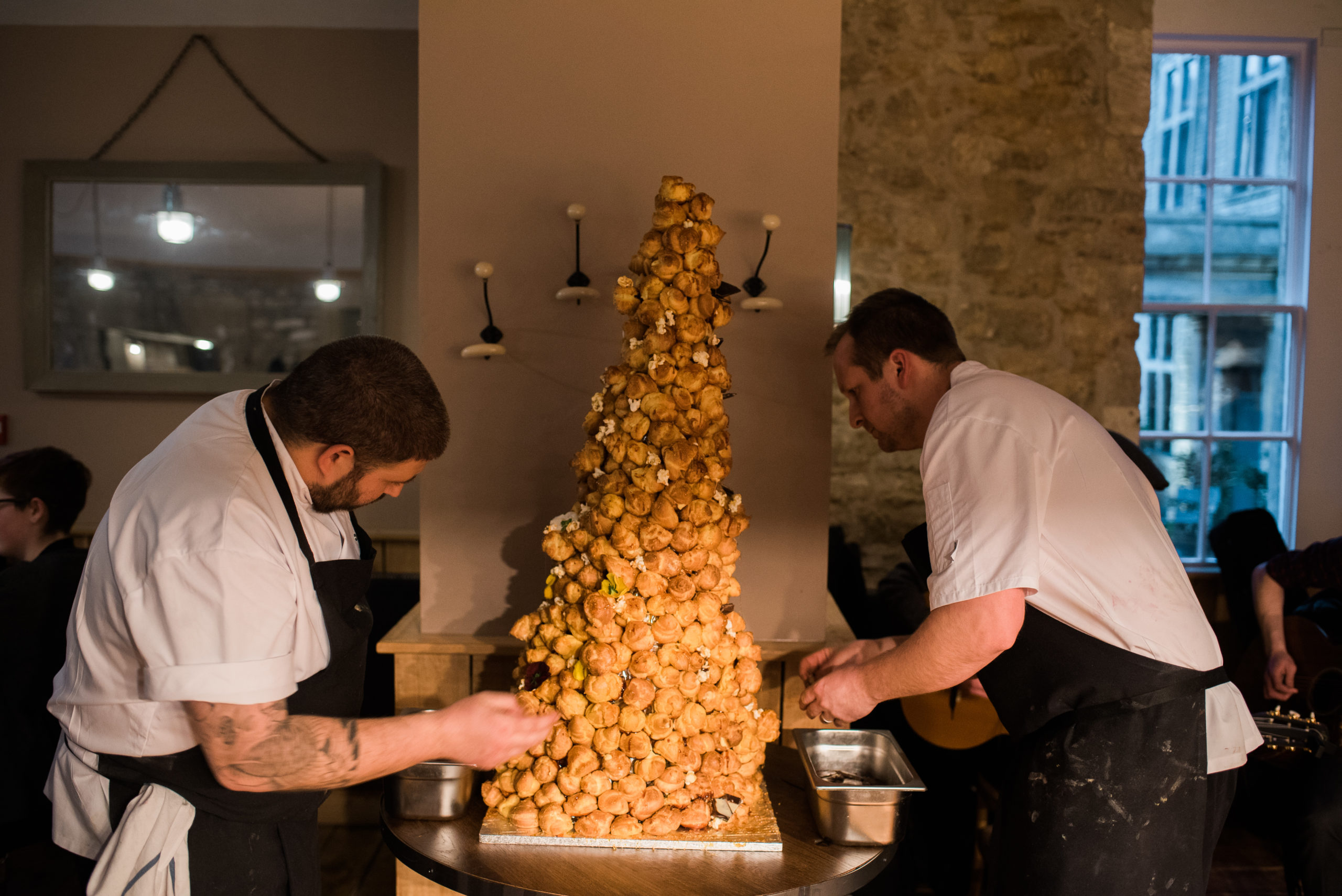 chefs with Croquembouche